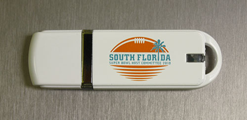 AE style Custom USB Drives with Super Bowl Logo Imprint