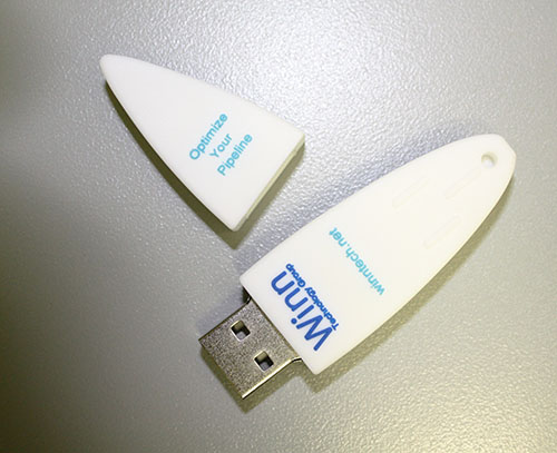 USB Flash Drive with Custom Design On Second Side And Cap Removed