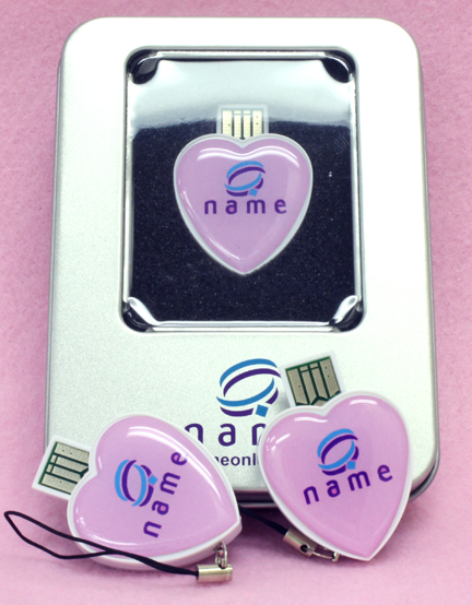 Name Online Custom Printed USB Drives with Matching Tin