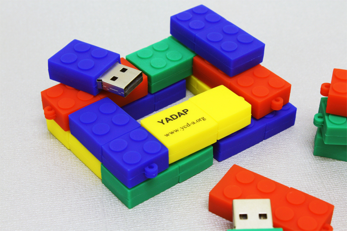 Lego custom USB drives.