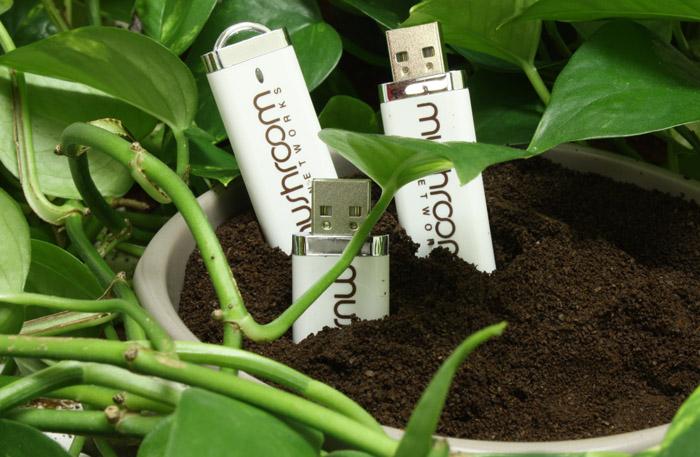 Mushroom Networks DE White USB Drive
