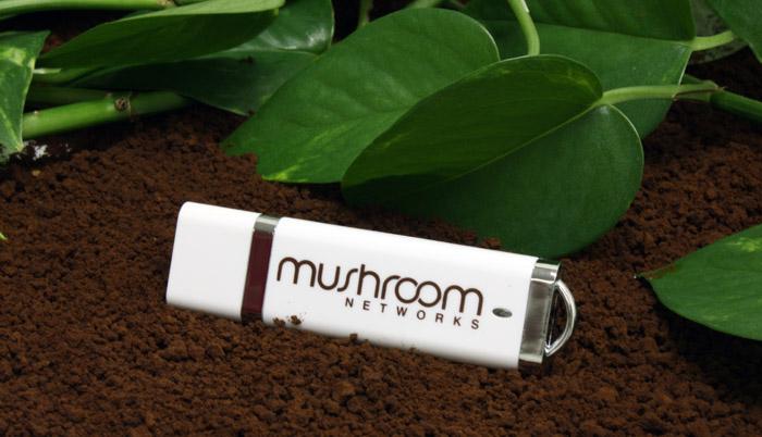 Mushroom Networks DE USB Drive White
